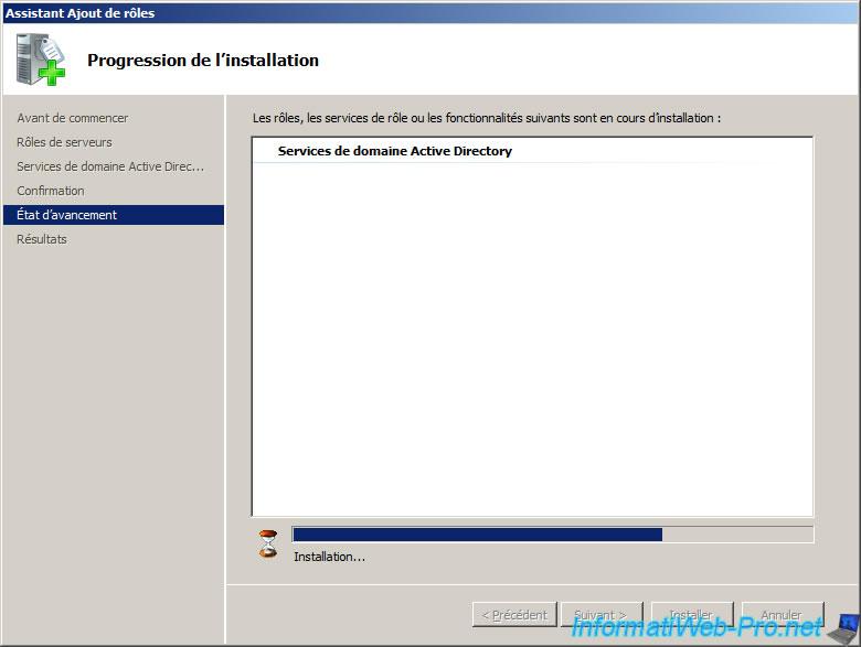 Windows server 2008 cr er un active directory informatiweb pro - Installer console active directory windows 7 ...