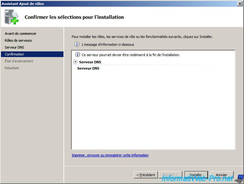 installer dns windows server 2008
