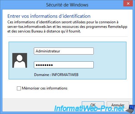 Windows server 2012 tse remoteapp sur un seul serveur - Raccourci connexion bureau a distance ...