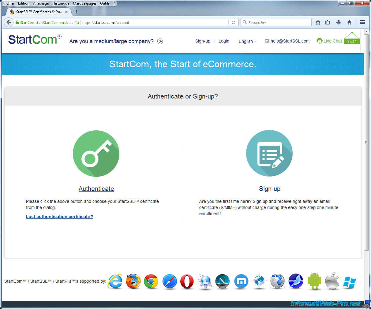 Renew Your Ssl Certificates On Startssl Informatiweb Pro