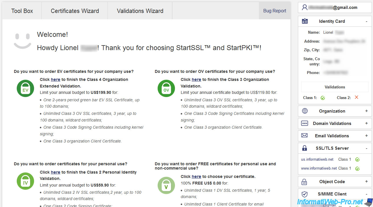 Renew your SSL certificates on StartSSL - InformatiWeb Pro