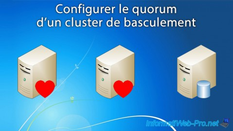Choisir et configurer le quorum d'un cluster de basculement sous Windows Server 2012 / 2012 R2
