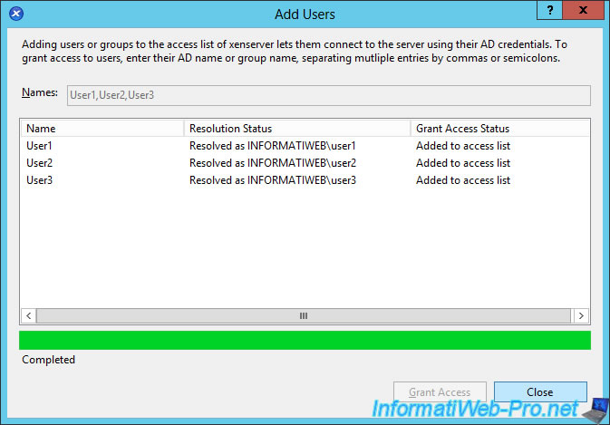 Citrix XenServer 6 5 - Active Directory authentication