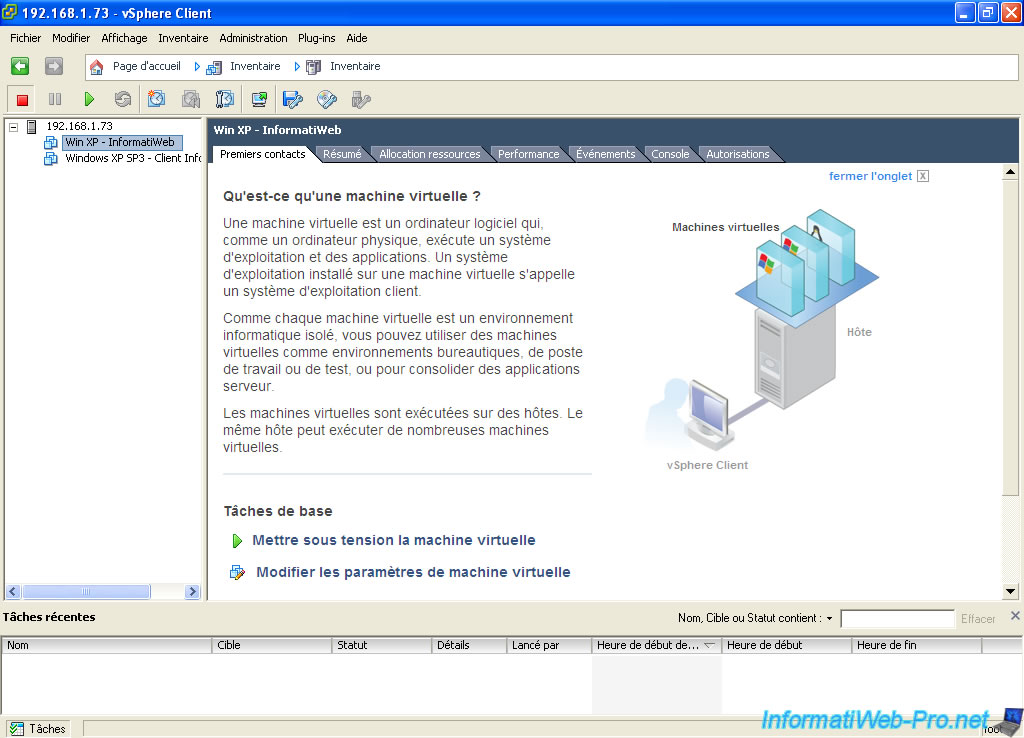 VMware ESXi 5 - Import and export virtual machines in OVF - VMware ...