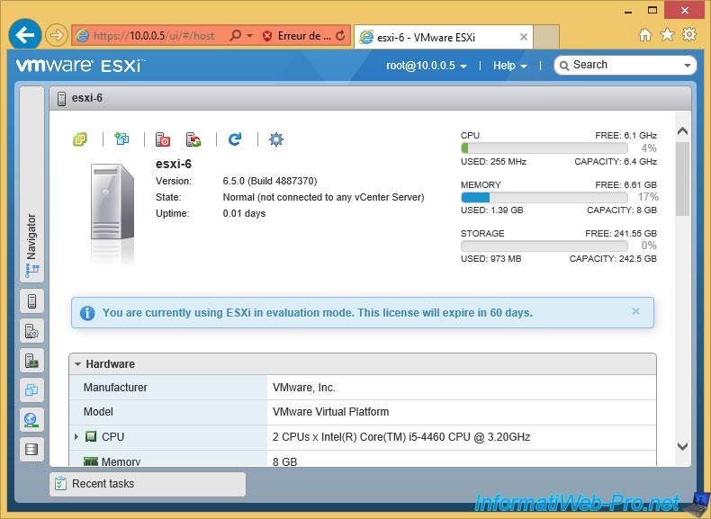 VMware ESXi 6 5 - Installation, configuration et sécurisation du