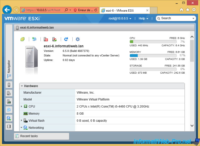 VMware ESXi 6 5 - Installation, configuration and secure the server