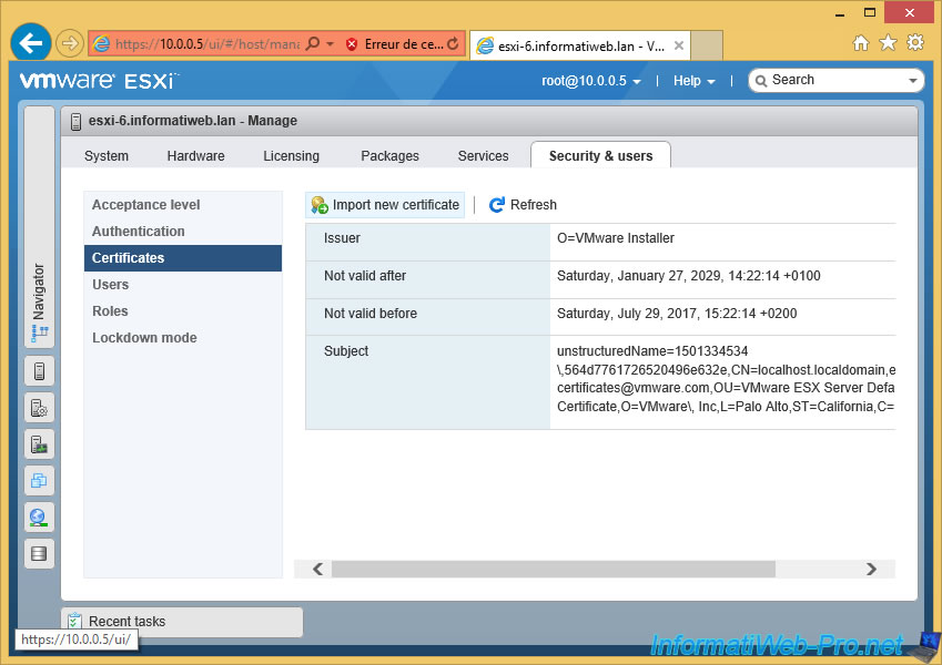 Vmware Esxi 65 Installation Configuration And Secure The Server