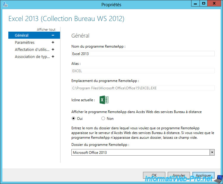 Windows Server 2012 / 2012 R2 - RDS - Change the properties